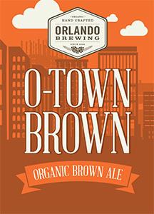 Orlando Brewing, Beers, O-Town Brown Ale, Craft Beer, Organic, Non-GMO, Orlando