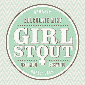 Orlando Brewing, Beers, Girl Stout, Chocolate Mint, Craft Beer, Organic, Non-GMO, Orlando